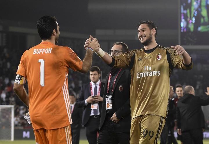 Buffon_Donnarumma_Juve_Milan_lapresse_2017