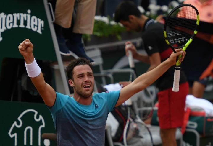 Cecchinato_lacrime_Roland_Garros_lapresse_2018