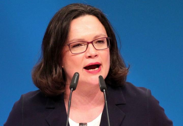 andrea_nahles_spd_germania_elezioni_lapresse_2018