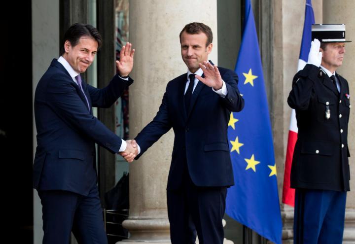 conte_macron_europa_francia_pace_italia_eliseo_lapresse_2018