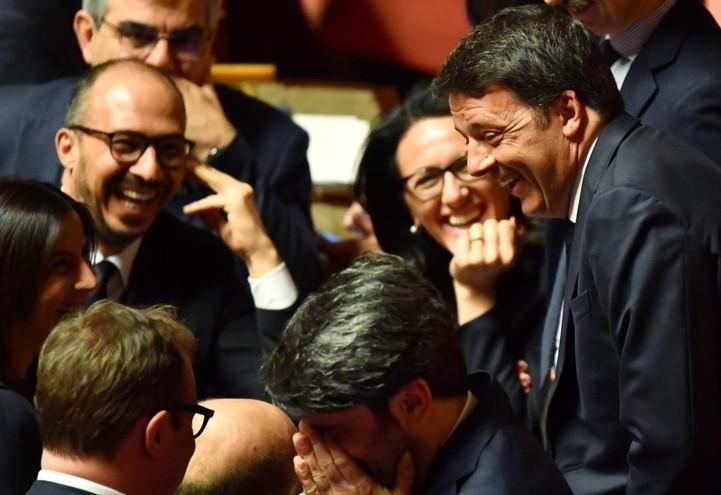 matteo_renzi_senato_senatori_lapresse_2018
