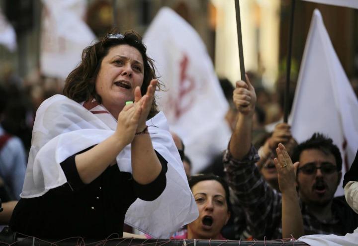 scuola_docenti_precari_lavoro_protesta_lapresse_2016