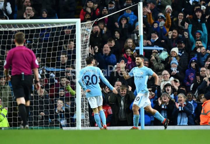 Aguero Silva Manchester City