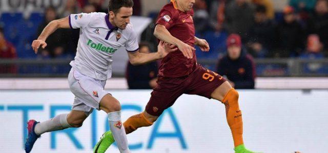 Badelj_ElShaarawy_Fiorentina_Roma_lapresse_2017