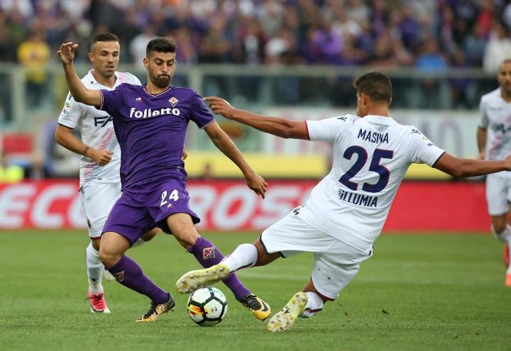 Benassi_Masina_Fiorentina_Bologna_lapresse_2017