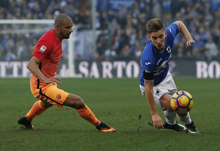 Bruno_Peres_Praet_Sampdoria_Roma_lapresse_2018