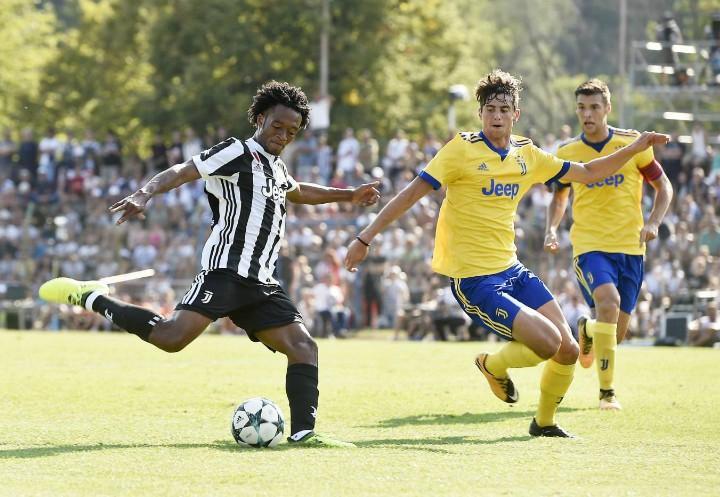 Cuadrado_tiro_Juventus_Villar_Perosa_lapresse_2017