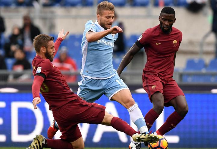 DeRossi_Immobile_Lazio_Roma_lapresse_2017