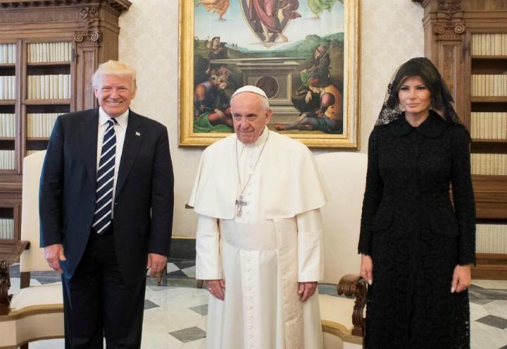 Donald_Trump_Melania_Papa_Francesco_LaPresse_2017