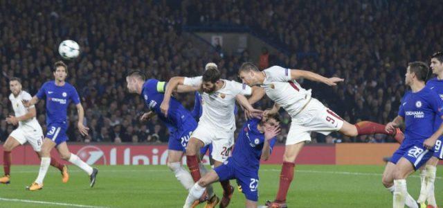 Dzeko_Fazio_Roma_Chelsea_lapresse_2017