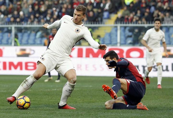 Dzeko Roma Genoa