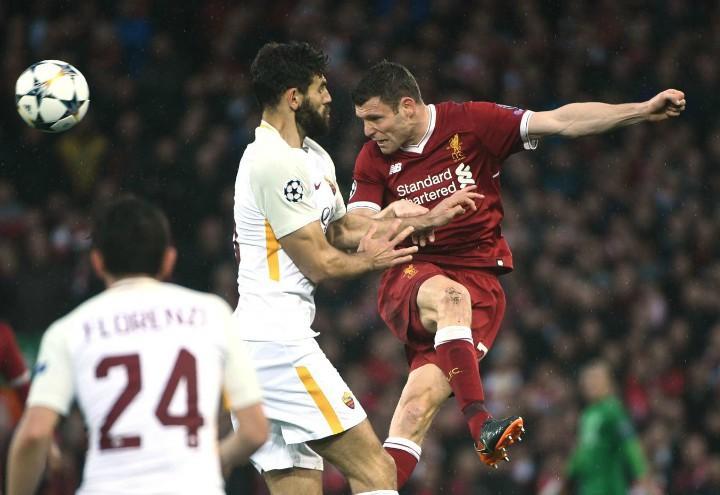 Fazio_Milner_Liverpool_Roma_lapresse_2018