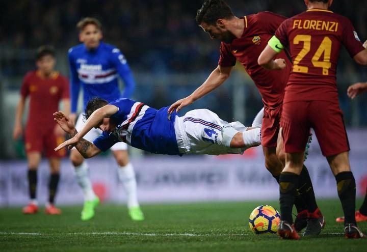 Florenzi_capitano_Sampdoria_Roma_lapresse_2018
