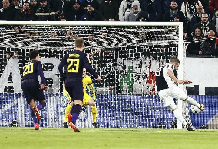 Higuain gol Juventus Tottenham