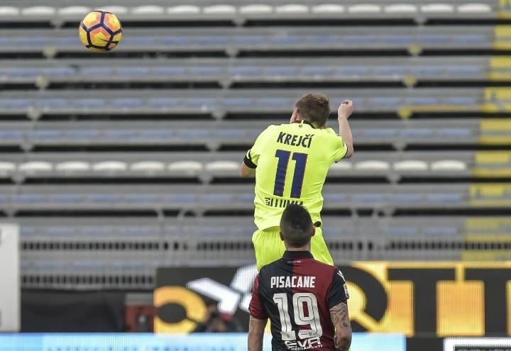Krejci_Pisacane_Bologna_Cagliari_lapresse_2017