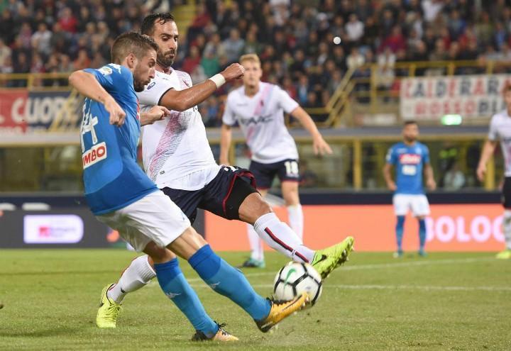 Mertens_Maietta_Napoli_Bologna_lapresse_2018