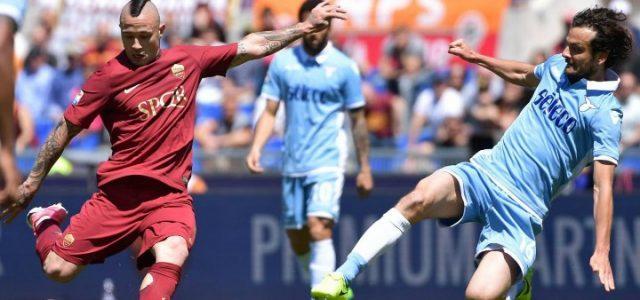 Nainggolan_Parolo_Roma_Lazio_lapresse_2017