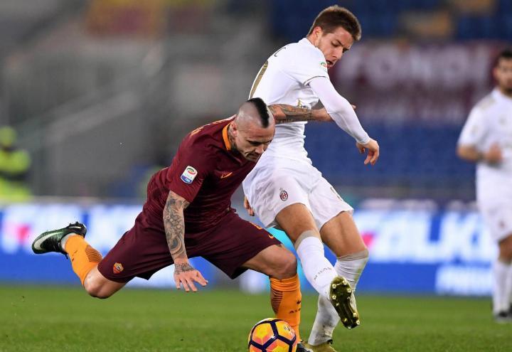 Nainggolan_Pasalic_Roma_Milan_lapresse_2017