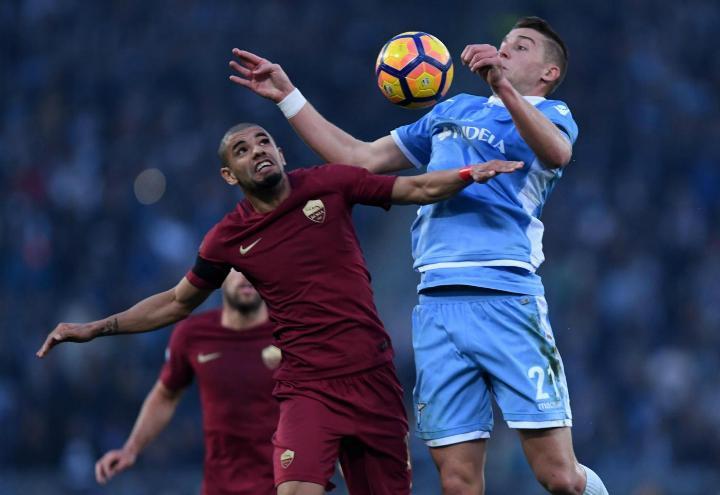 Peres_Milinkovic_Lazio_Roma_lapresse_2017