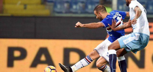 Quagliarella_Wallace_Lazio_Sampdoria_lapresse_2017