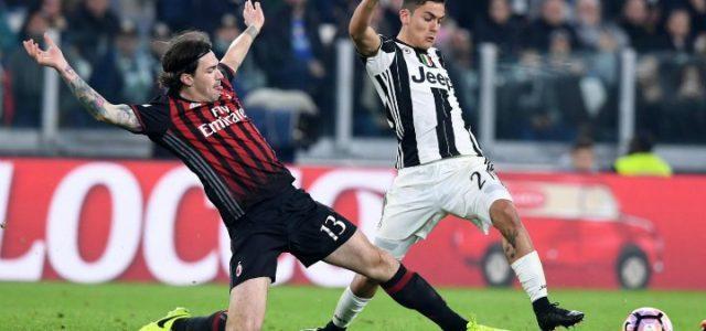 Romagnoli_Dybala_tiro_Milan_Juventus_lapresse_2017