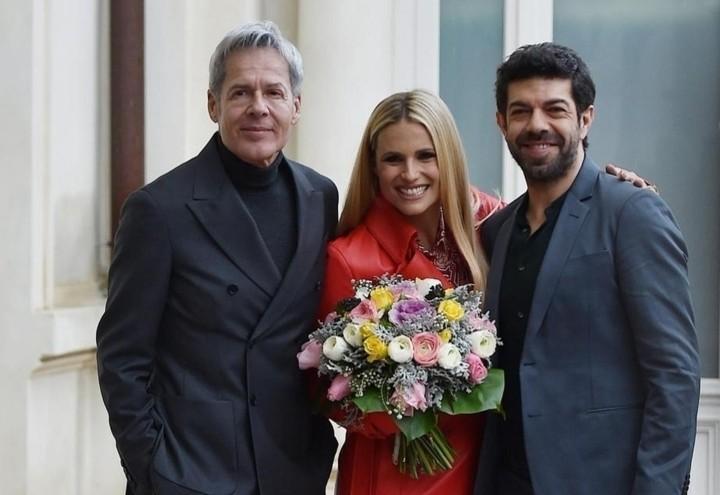 Sanremo2018_Baglioni_Hunziker_Favino_Lapresse