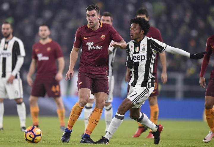 Strootman_Cuadrado_Roma_Juventus_lapresse_2017
