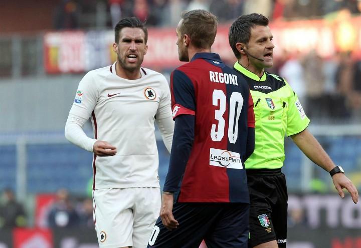 Strootman_Rigoni_Roma_Genoa_lapresse_2017