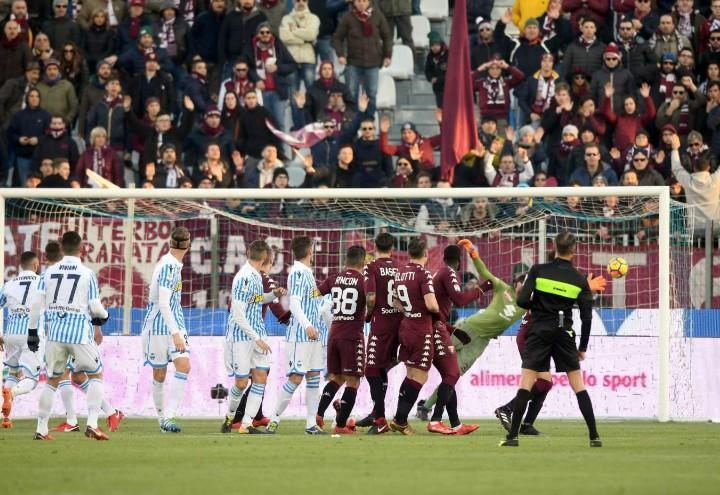 Viviani_punizione_Spal_Torino_lapresse_2017