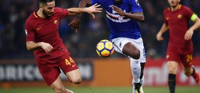 Zapata_Manolas_Sampdoria_Roma_lapresse_2018
