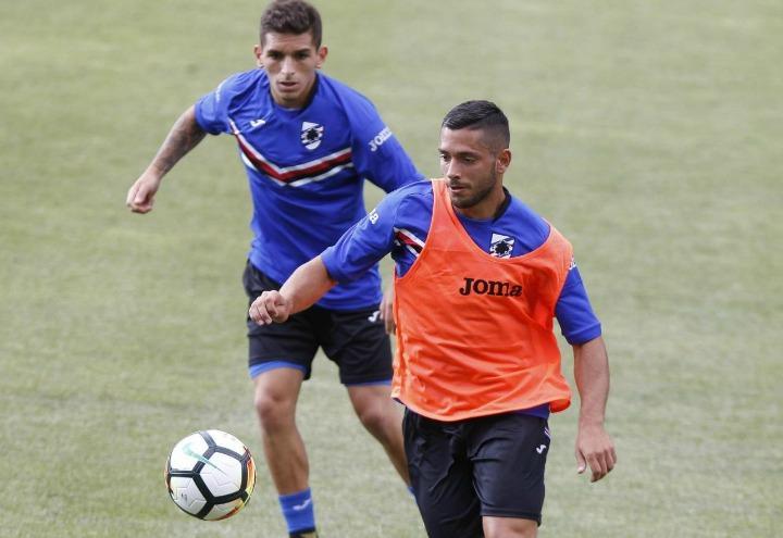 caprari_torreira_sampdoria_allenamento_lapresse_2017