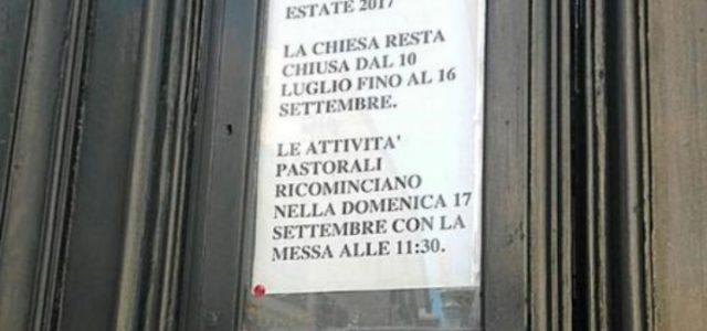 chiesa_chiusa_roma_estate_twitter_2017