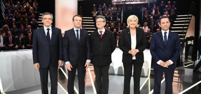 elezioni_francia_fillon_macron_melenchon_lepen_hamon_confronto_lapresse_2017