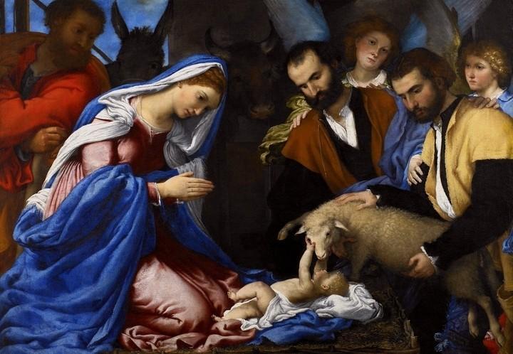 lorenzolotto_nativita_adorazione_pastori_1530_arte