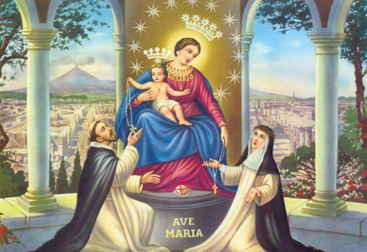 Risultati immagini per BEATA VERGINE MARIA DEL ROSARIO