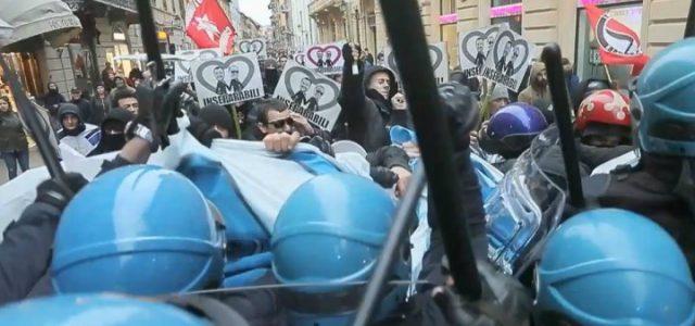 scontri_polizia_salvini_comizio_antagonisti_twitter_2018