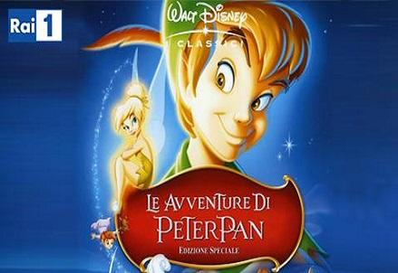 Le avventure di peter pan su rai il film disney del in