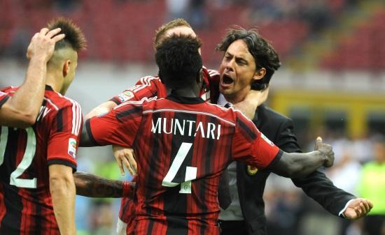 Muntari_Inzaghi_abbraccio