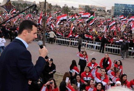assad-siria-damasco-manifestazione