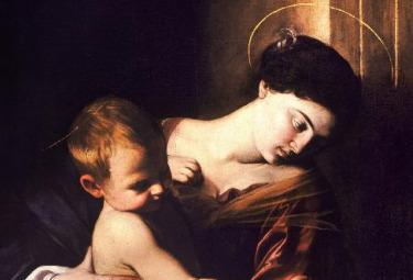 Caravaggio_Madonna_PellegriniR375