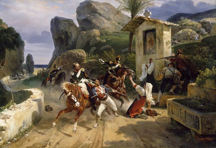 Briganti_italiani_sorpresi_dalle_truppe_Pontificie-Horace_Vernet