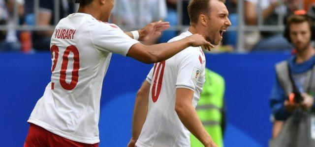 Eriksen_Poulsen_Danimarca_gol_Mondiali_lapresse_2018