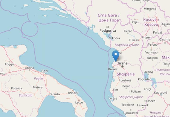 Albania Cartina Geografica.Terremoto In Albania Sisma M 5 1 Ingv Ultime Notizie Scossa