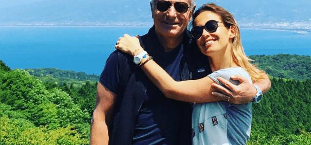 Paolo Bonolis in compagnia della moglie Sonia Bruganelli