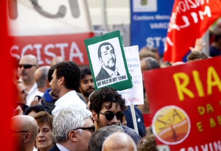 protesta_sinistra_salvini_nazi_lapresse_2018