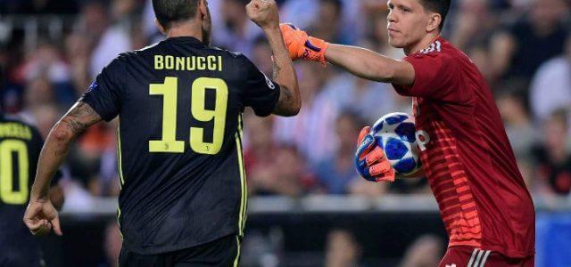 Bonucci_Szczesny_Juventus_Valencia_lapresse_2018