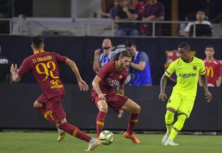 Santon_ElShaarawy_Roma_Barcellona_lapresse_2018