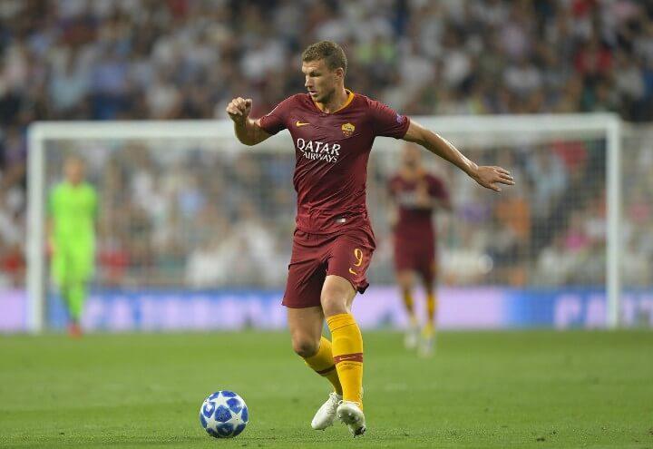 Dzeko_Roma_surplace_Champions_lapresse_2018