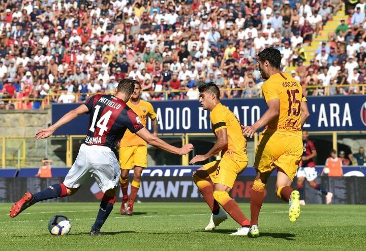 Mattiello_Bologna_Roma_gol_lapresse_2018