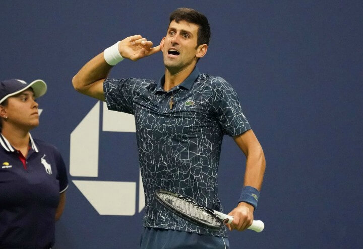 Novak_Djokovic_orecchio_UsOpen_lapresse_2018